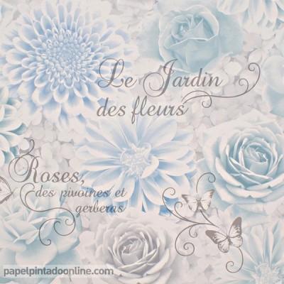 Papel pintado FLORES ROMÁNTICAS FD40642