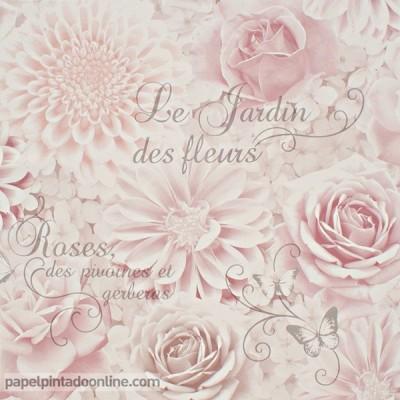 Papel pintado FLORES ROMÁNTICAS FD40641