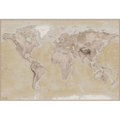 Fotomural W2PL NEUTRAL MAP 001