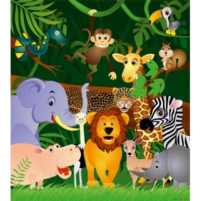 Fotomural INFANTIL JUNGLE ANIMALS FTL-1639