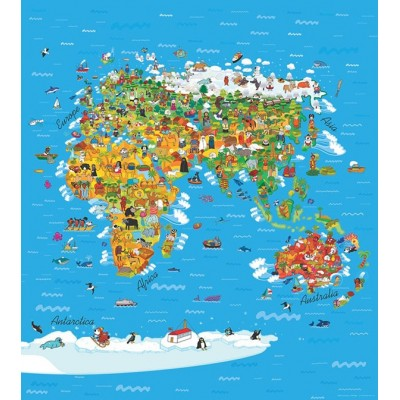 Fotomural INFANTIL KIDS MAP FTL-1640
