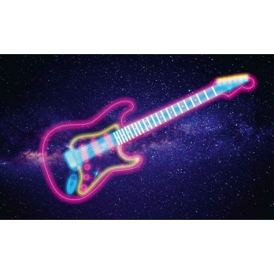 Fotomural GLOWING GUITAR