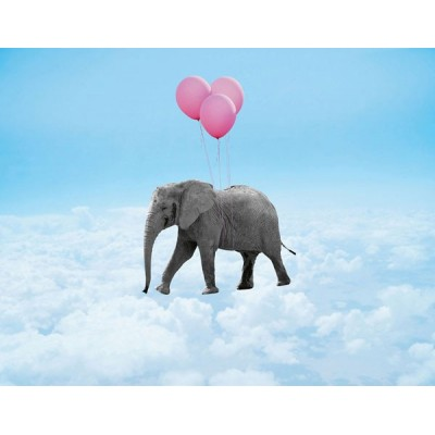 Fotomural FLYING ELEPHANT