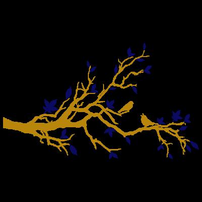 Vinil Decorativo Moderno MO203, Mediano, Oro 8278-00, Azul Oscuro 8238-01, Invertir
