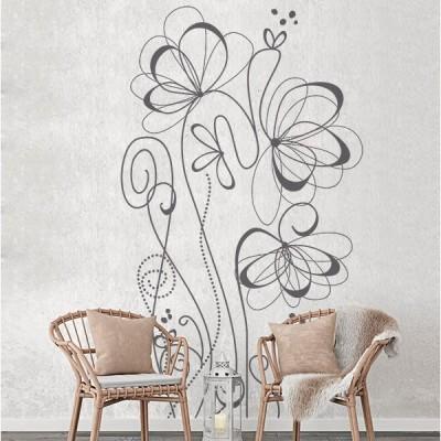 Vinil Decorativo Floral FL060