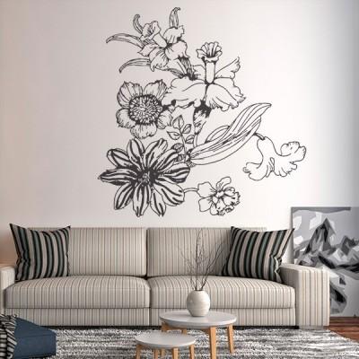 Vinilo Decorativo Floral FL112