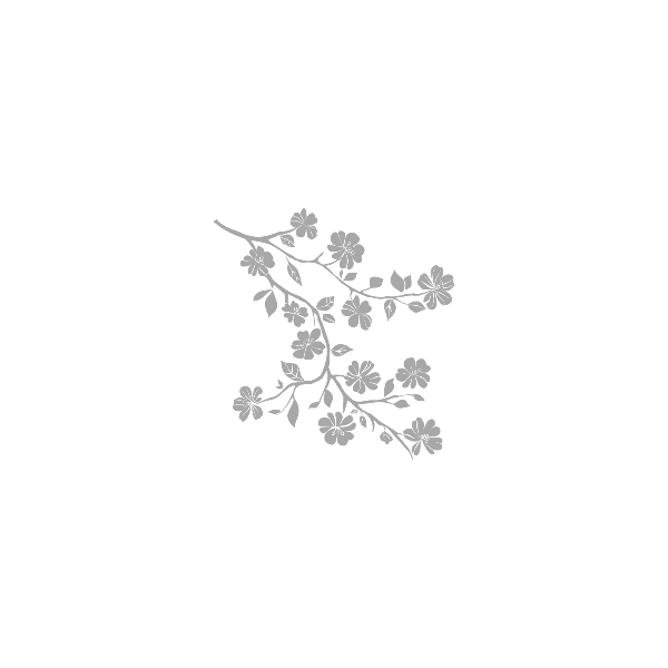 Vinilo Decorativo Floral FL113, Pequeño, Gris Claro 8288-04, Invertir