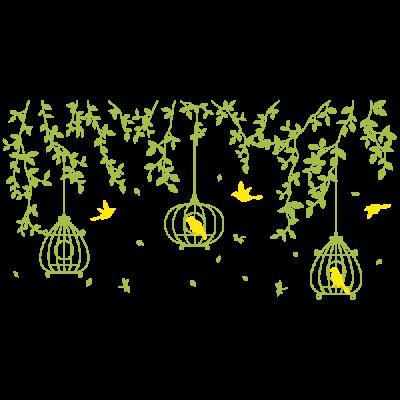 Vinilo Decorativo Floral FL214, Pequeño, Verde Oasis 8948-26, Amarillo 8208-02, Invertir