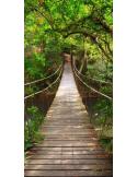 Fotomural Puente en la Selva FPR018, 100cm. x 201cm., Vinilo Autoadhesivo Mate, Todo Color, Invertir, 12.59x0x9.67x0 cm.