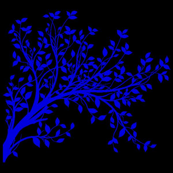 Vinilo Decorativo Floral FL075, Pequeño, Azul 8238-10, Invertir