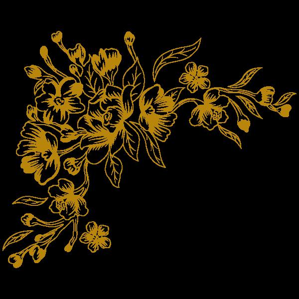 Vinilo Decorativo Floral FL114, Grande, Oro 8278-00, Invertir