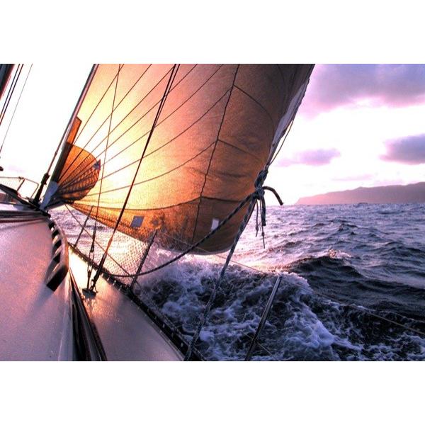 Fotomural Barco de Vela FDE003, 200cm. x 140cm., Vinilo Autoadhesivo Mate, Todo Color, Invertir, 0x2.5x0x2.5 cm.
