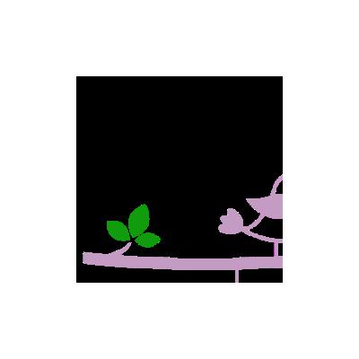Vinilo Decorativo Infantil IN223, Pequeño, Violeta Antiguo 8958-23, Verde Hierba 8248-04, Invertir
