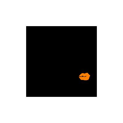 Vinilo Decorativo Moderno MO238, Mediano, Negro 8288-00, Naranja 8208-04, Invertir