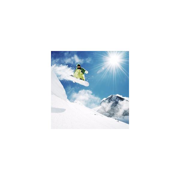 Fotomural Snowboard FDE005, 100cm. x 100cm., Vinilo Autoadhesivo Mate, Todo Color, Original, 0x0x0x0 cm.