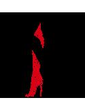 Vinil Decorativo Moderno MO204, Grande, Negro 8288-00, Rojo 8258-03, Original