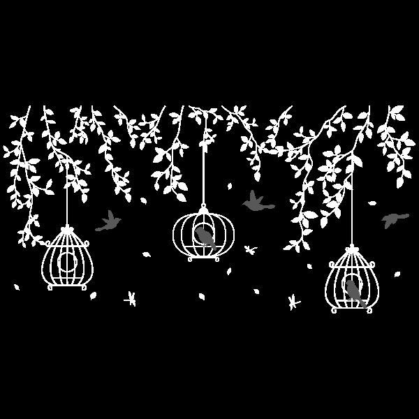 Vinilo Decorativo Floral FL214, Grande, Blanco 8228-00, Gris Oscuro 8288-01, Original