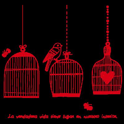Vinil Decorativo Moderno MO055, Grande, Rojo 8258-03, Original