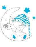 Vinilo Decorativo Infantil IN206, Grande, Gris Claro 8288-04, Azul Claro 523, Original