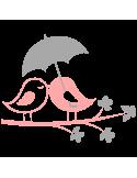 Vinilo Decorativo Infantil IN222, Pequeño, Rosa Pastel 8958-19, Gris Claro 8288-04, Original
