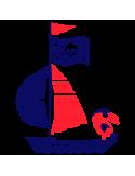 Vinilo Decorativo Infantil IN211, Mediano, Azul Oscuro 8238-01, Rojo Vivo 8258-02, Original