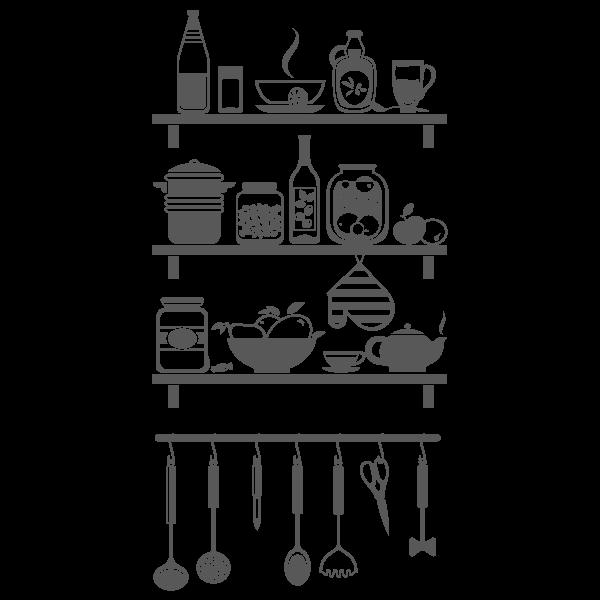 Vinil Decorativo Cozinhas CO025, Pequeño, Gris Oscuro 8288-01, Original