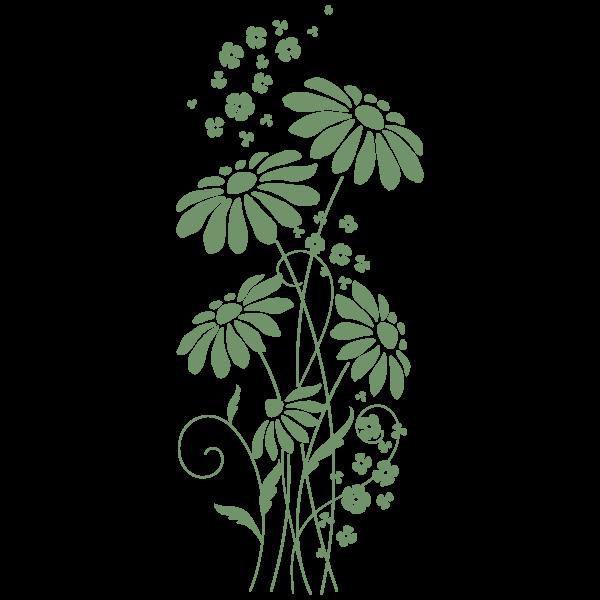 Vinilo Decorativo Floral FL116, Mediano, Verde Pesto 8948-25, Original
