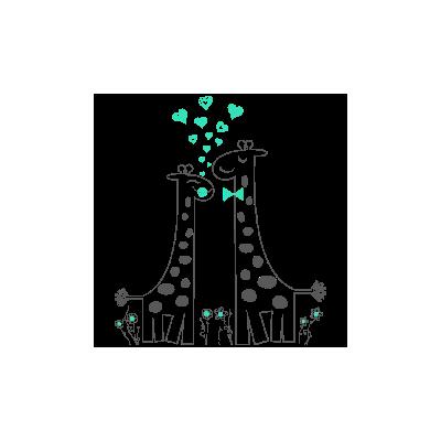 Vinilo Decorativo Infantil IN219, Grande, Gris Oscuro 8288-01, Verde Agua 8428-06, Original