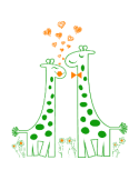 Vinilo Decorativo Infantil IN219, Pequeño, Verde Hierba 8248-04, Naranja 8208-04, Original