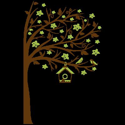 Vinil Decorativo Infantil IN218, Grande, Marron 8282-01, Verde Oasis 8948-26, Original