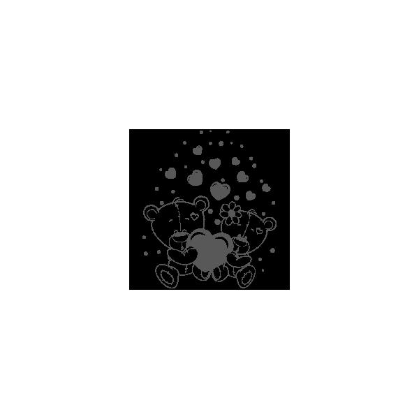 Vinilo Decorativo Infantil IN165, Mediano, Gris Oscuro 8288-01, Original