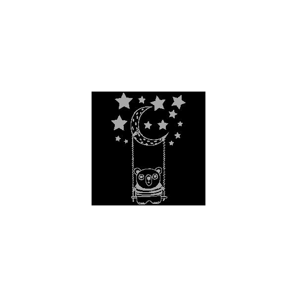 Vinilo Decorativo Infantil IN172, Pequeño, Gris Claro 8288-04, Original