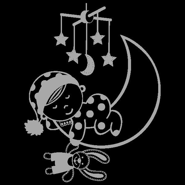 Vinilo Decorativo Infantil IN154, Mediano, Gris Claro 8288-04, Original
