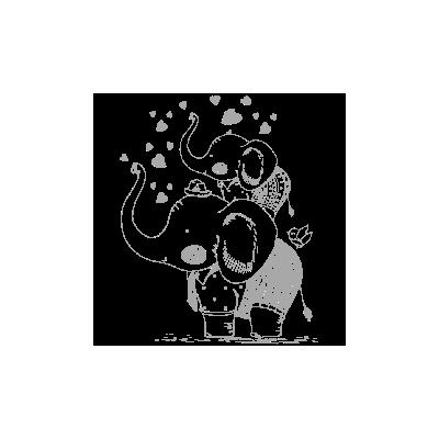Vinilo Decorativo Infantil IN179, Pequeño, Gris Claro 8288-04, Original
