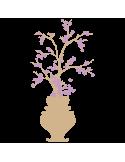 Vinilo Decorativo Moderno MO234, Pequeño, Beige 8228-01, Violeta Antiguo 8958-23, Original