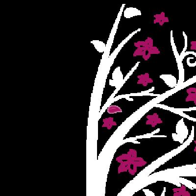 Vinilo Decorativo Infantil IN218, Grande, Blanco 8228-00, Magnolia 8958-21, Original