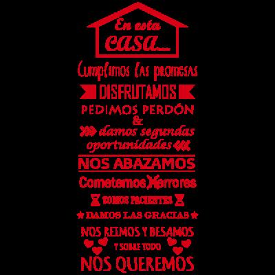 Vinilo Decorativo Texto TE036, Pequeño, Rojo 8258-03, Original