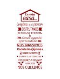 Vinilo Decorativo Texto TE036, Mediano, Rojo Burdeos 8258-05, Original
