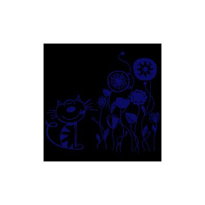Vinilo Decorativo Infantil IN086, Pequeño, Azul Oscuro 8238-01, Original