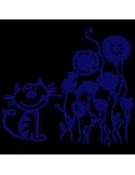 Vinilo Decorativo Infantil IN086, Mediano, Azul Oscuro 8238-01, Original