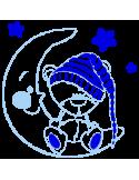 Vinilo Decorativo Infantil IN206, Pequeño, Azul Cielo 8238-07, Azul 8238-10, Original