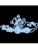 Vinilo Decorativo Infantil IN167, Pequeño, Azul Cielo 8238-07, Original
