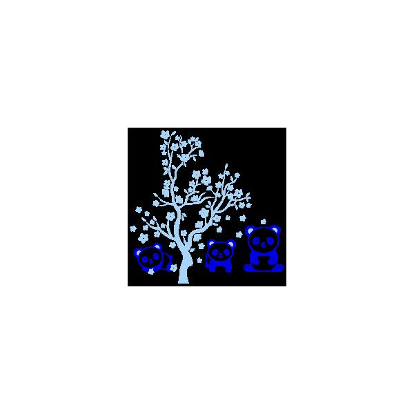 Vinilo Decorativo Infantil IN203, Pequeño, Azul Cielo 8238-07, Azul 8238-10, Original