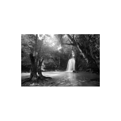 Fotomural Cascada FPR036, 150cm. x 100cm., Vinilo Autoadhesivo Mate, Blanco y Negro, Original, 0x0x0x0 cm.