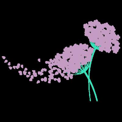 Vinilo Decorativo Floral FL211, Mediano, Verde Agua 8428-06, Violeta Antiguo 8958-23, Original