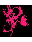 Vinilo Decorativo Floral FL040, Pequeño, Magenta 8258-06, Original