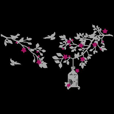 Vinil Decoratiu Floral FL212, Pequeño, Gris Claro 8288-04, Magnolia 8958-21, Original