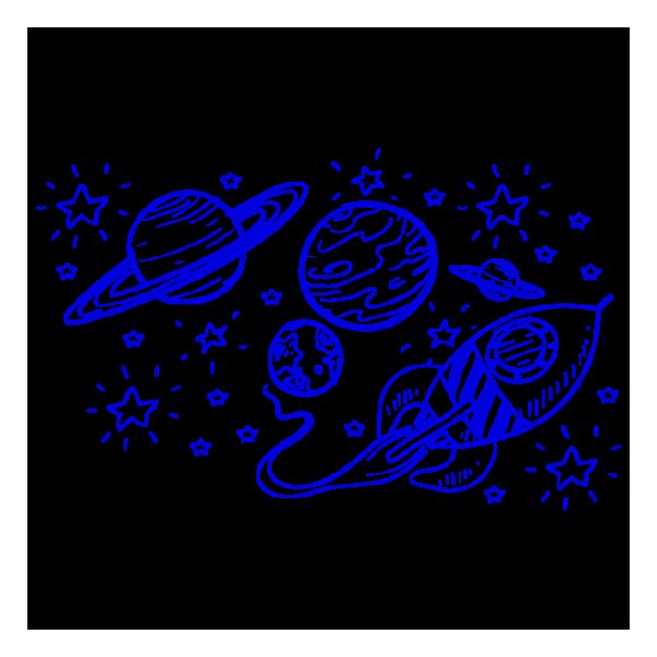 Vinilo Decorativo Infantil IN101, Grande, Azul 8238-10, Original