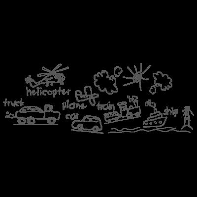 Vinilo Decorativo Infantil IN135, Grande, Gris Oscuro 8288-01, Original