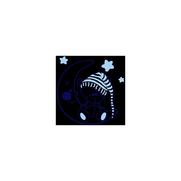 Vinilo Decorativo Infantil IN206, Pequeño, Azul Oscuro 8238-01, Azul Cielo 8238-07, Original